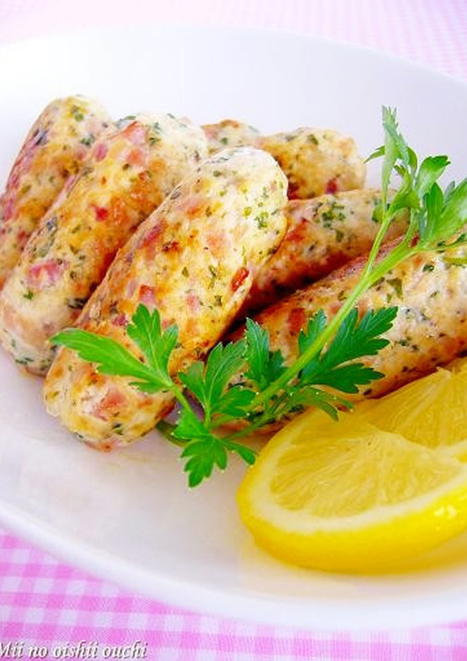 簡単手作り レモンとパセリ香味ソーセージ