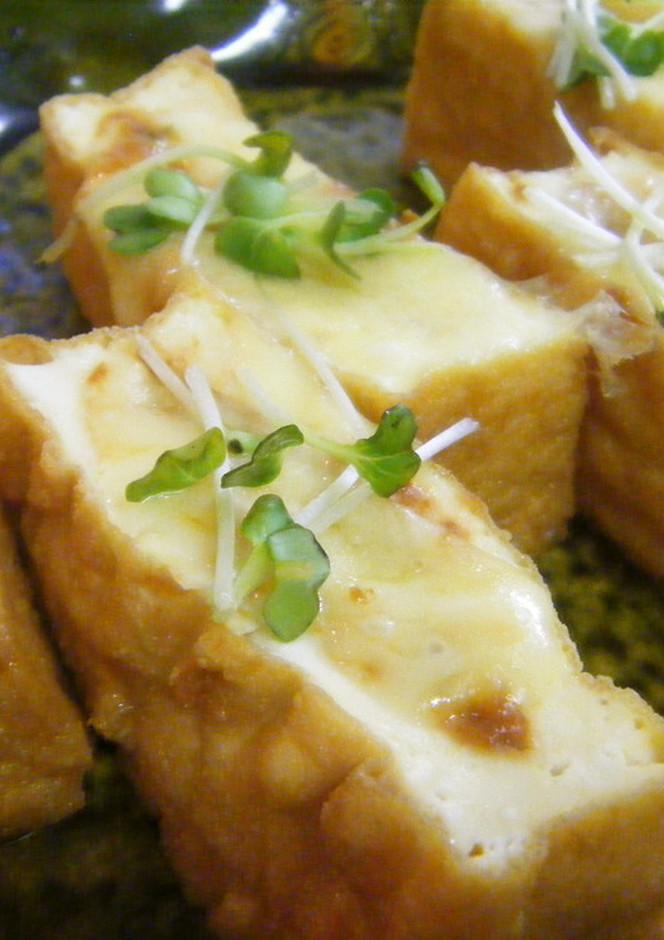 厚揚げのねぎみそチーズ