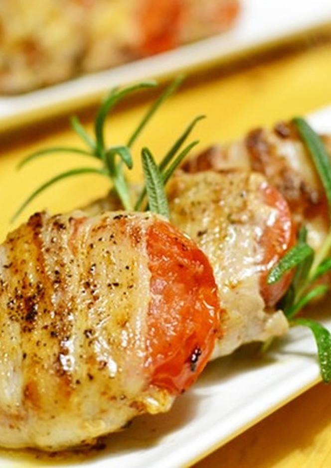 豚肉巻きトマトステーキ