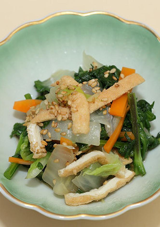白菜と揚げのさっぱり胡麻酢サラダ