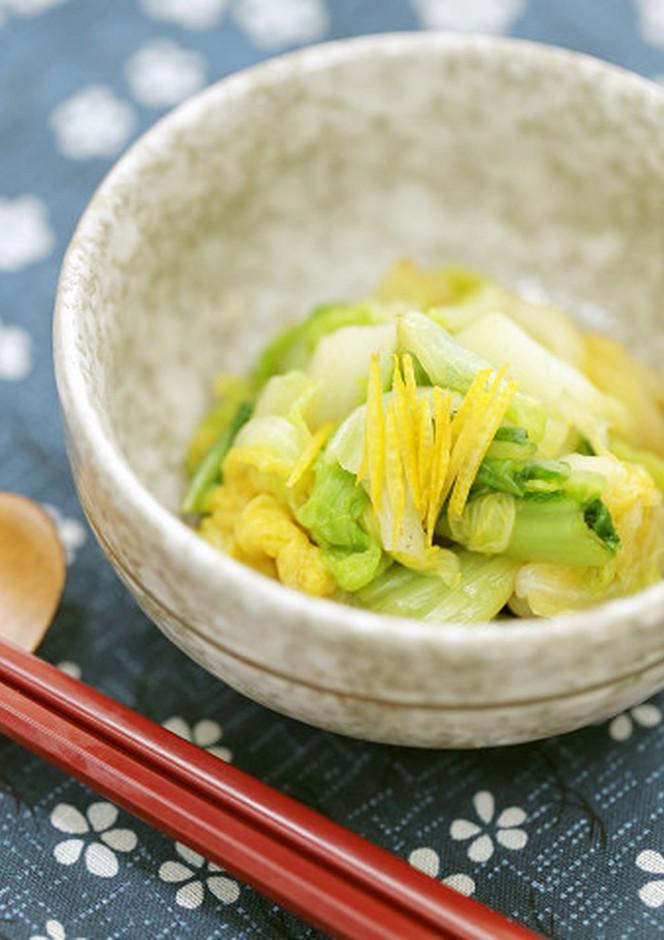あっさり 柚子風味の白菜お浸し