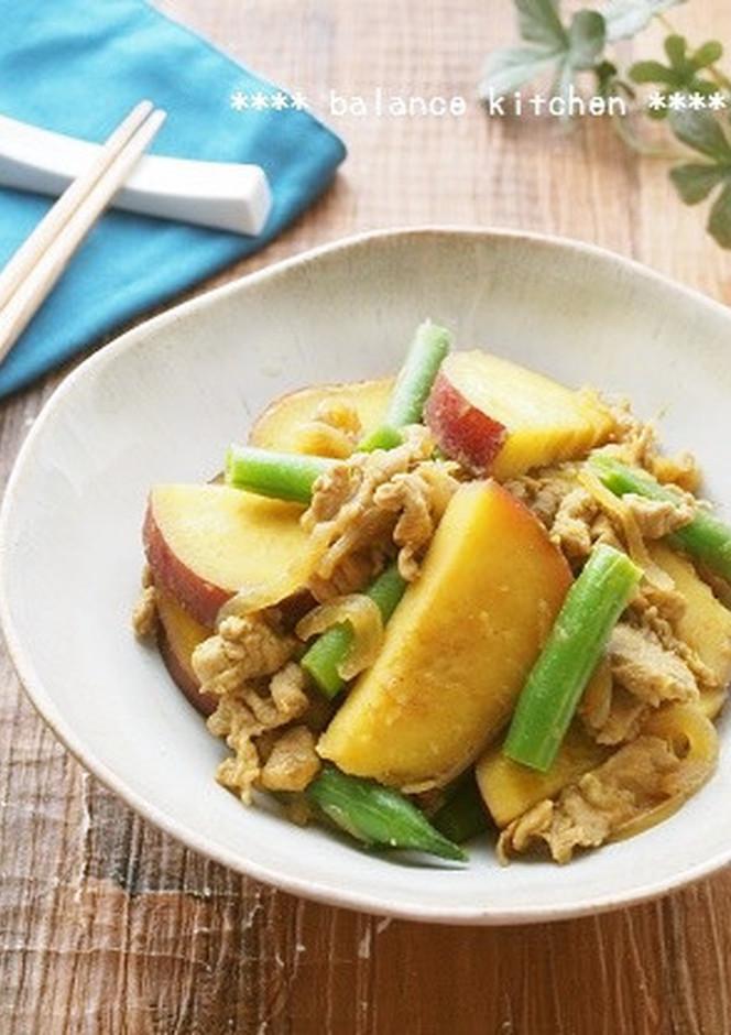 簡単 サツマイモと豚肉の和風カレー煮