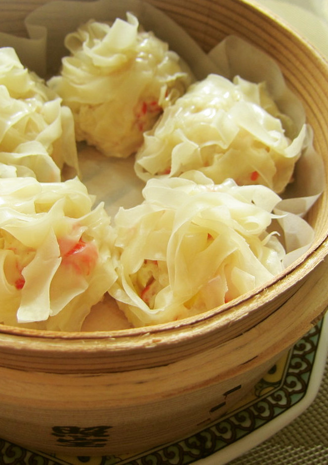 蟹カマ豆腐焼売