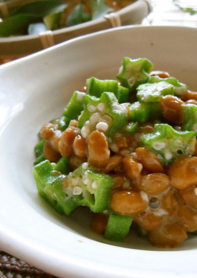 簡単 オクラ納豆の塩麹和え