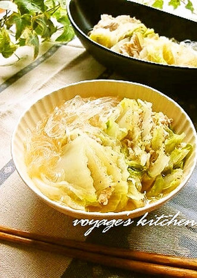 黒胡椒たっぷりで 白菜と豚肉の重ね煮