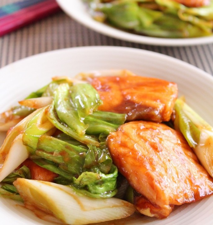 鮭の回鍋肉風 中華風味噌炒め