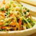 水菜とエノキの和え物