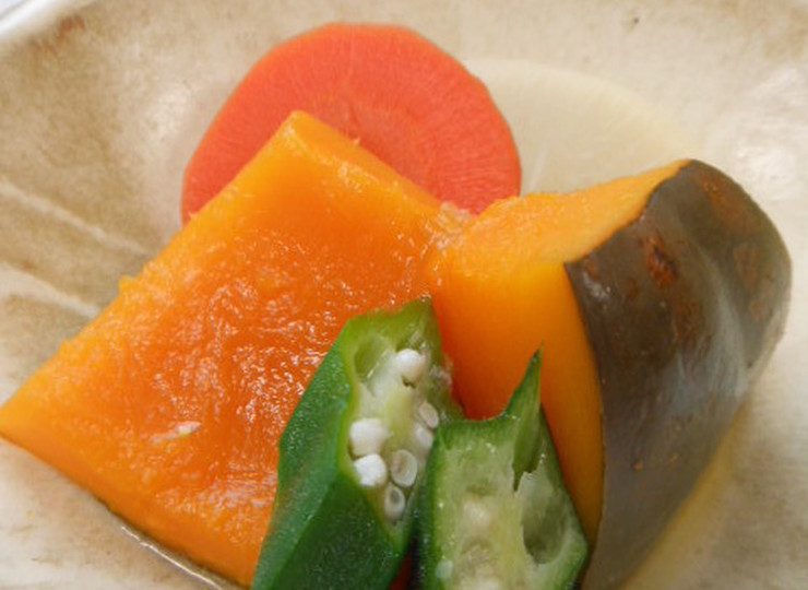 夏野菜の炊き合せ