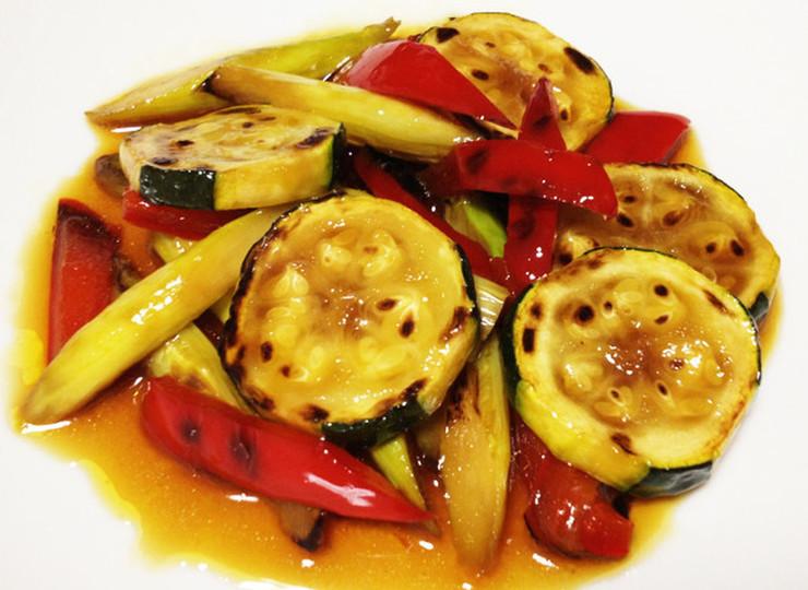 ズッキーニとアスパラの夏野菜マリネ