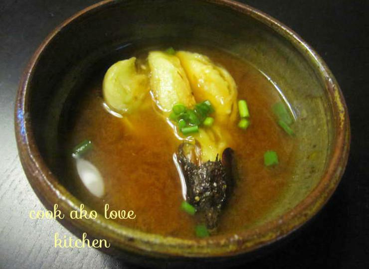 丸ごと焼きナスのお味噌汁