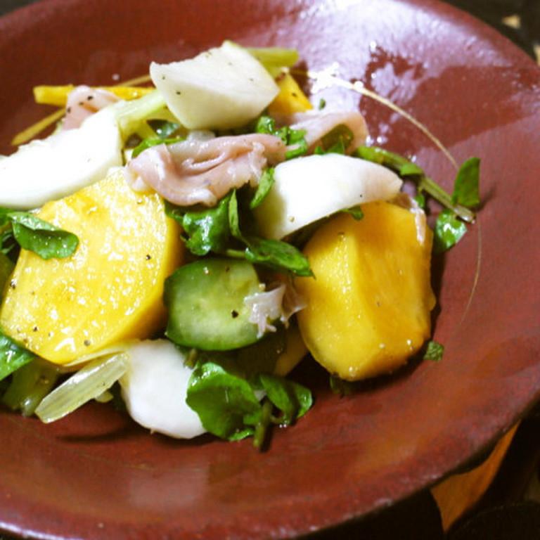 柿とかぶの秋サラダ