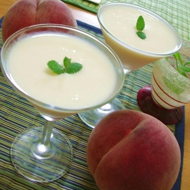 冷製 完熟桃のスープ