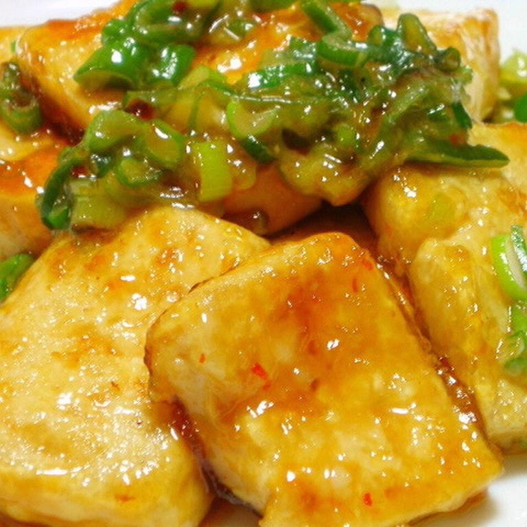 甘辛 こってり 豆腐ステーキ