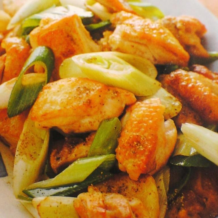 おいしく出来る鶏と葱の山椒風味