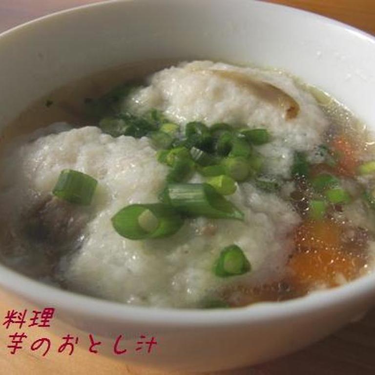 大分の郷土料理 山芋のおとし汁