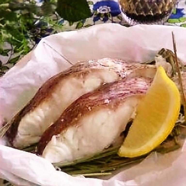白身魚のレモングラス蒸し