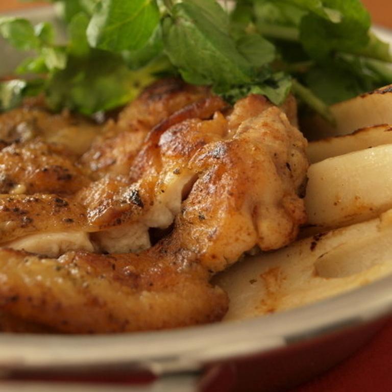 鶏の黒七味焼き焦がしマヨ醤油