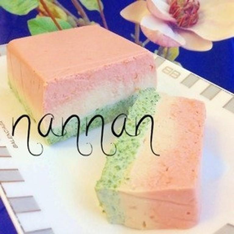 豆腐の3色テリーヌ