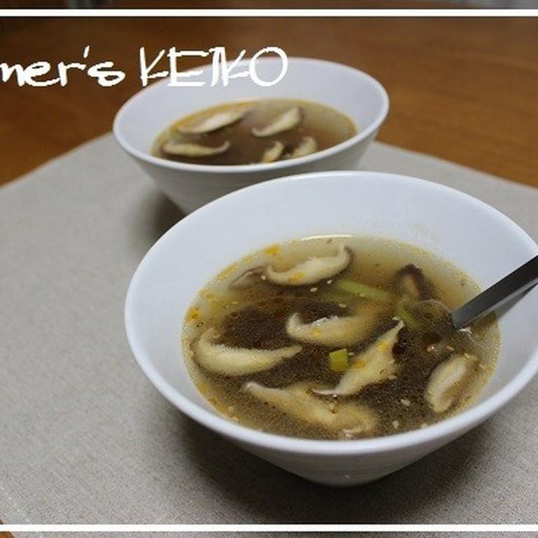 しいたけと長ねぎの中華スープ