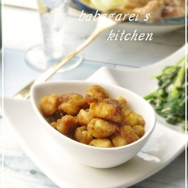 簡単おつまみ 鶏ひざ軟骨のカレー炒め
