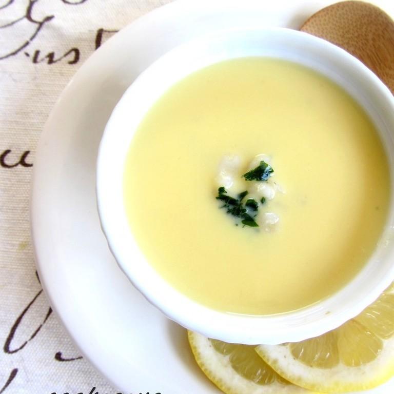 押し麦のレモンスープ