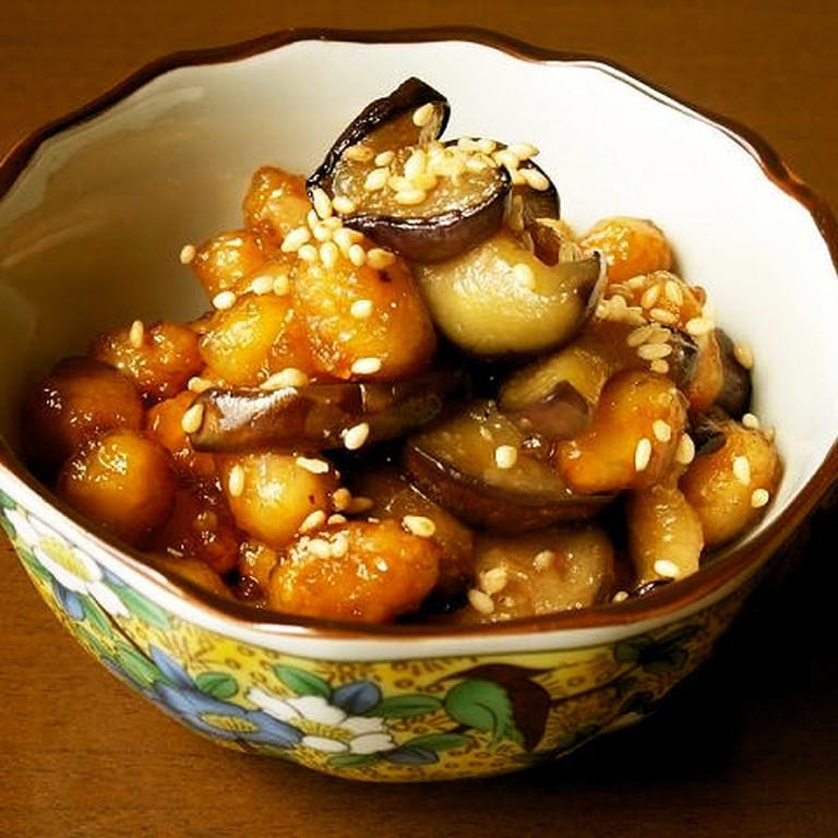 大豆となすの簡単 常備菜