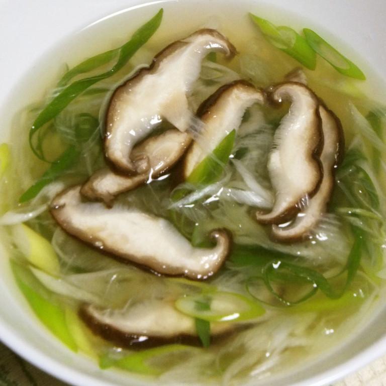 冷え性対策 おネギたっぷり中華スープ