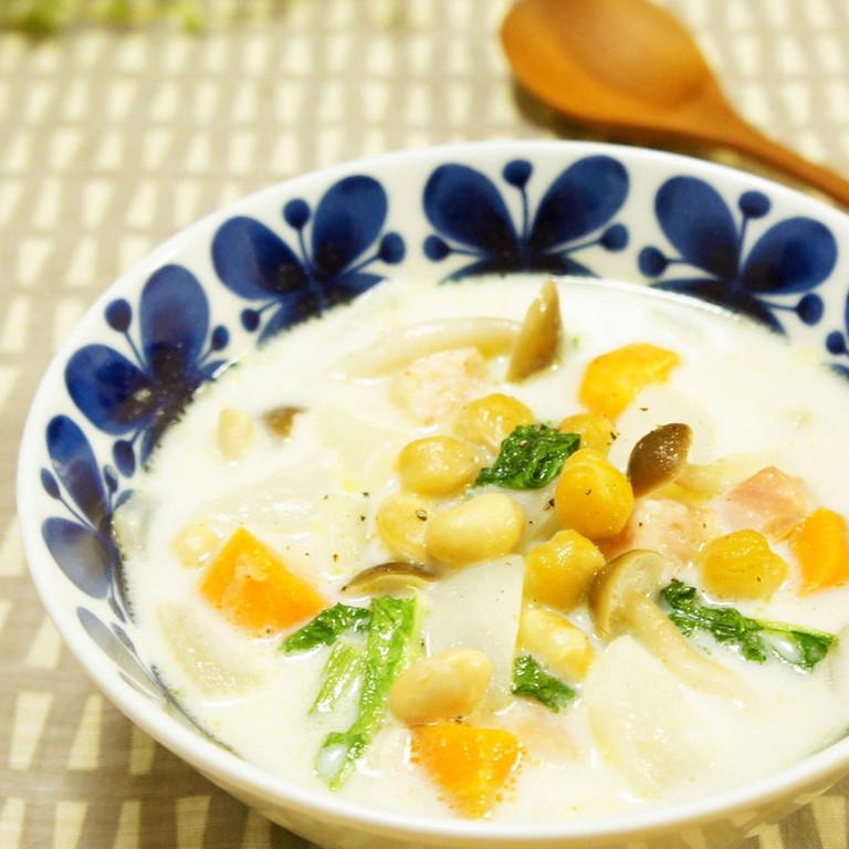 かぶの味噌ミルクスープ