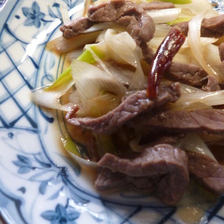 牛肉と白ねぎの中華炒め風