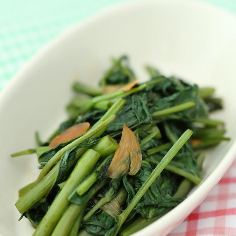 おうちで簡単❢美味しい❢空芯菜の炒め物