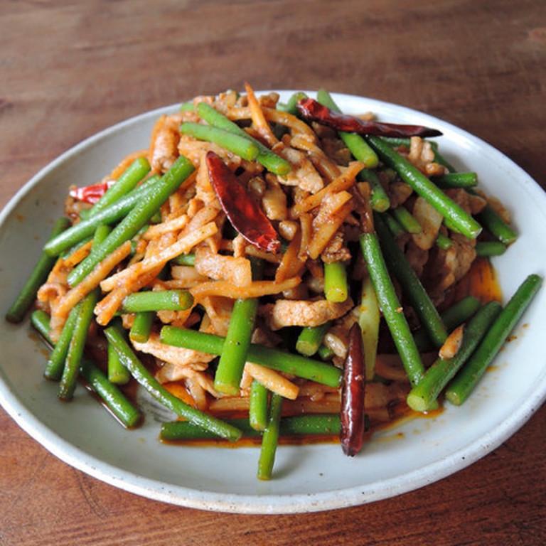 旨辛 豚とニンニクの芽のスタミナ中華炒め
