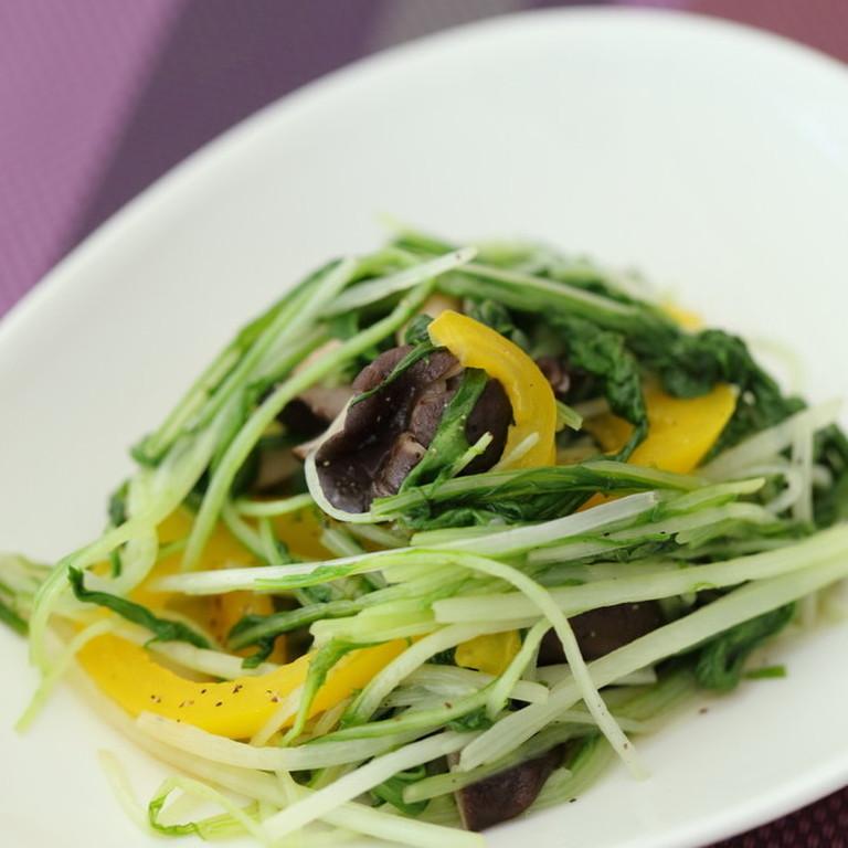 水菜とひらたけのささっとシンプル炒め By Fujiレシピ 管理栄養士監修のレシピ検索 献立作成 おいしい健康 脂質異常症