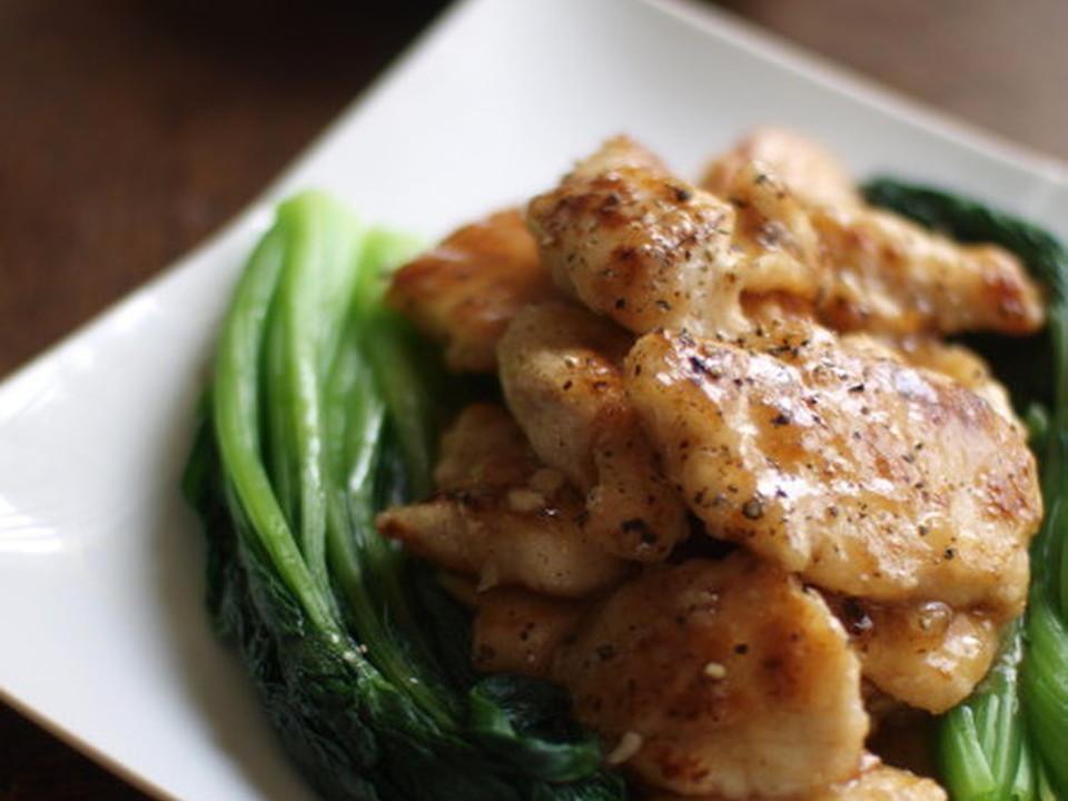 塩麹鶏のオイスター風味炒め