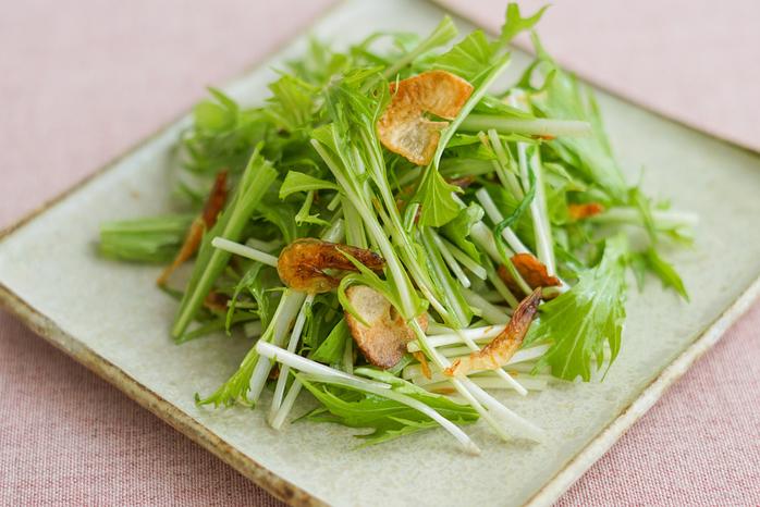 水菜と桜えびの中華サラダ